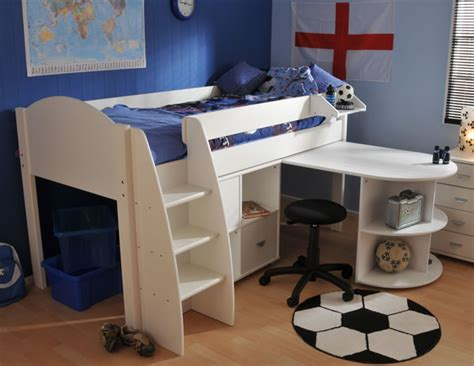 Stompa Mid Sleeper Cabin Bed by Stompa Rondo 6 Mid Sleeper Cabin Bed With Pull Out Desk