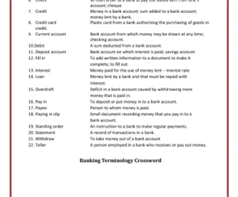 Banking Insurance Letters Crossword Economic Terms Crossword Answers Reportspdf868 Web Fc2