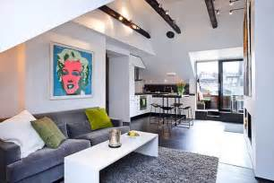 Beautiful Apartments by Black And White Attic Interior With Vibrant Pops Of Color