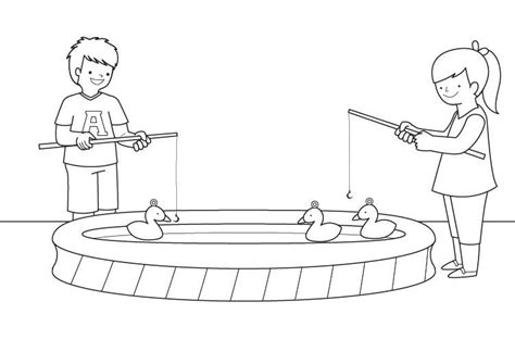 de ni a pescando para imprimir y pintar dibujos para colorear de la juego de pesca dibujo para colorear e imprimir