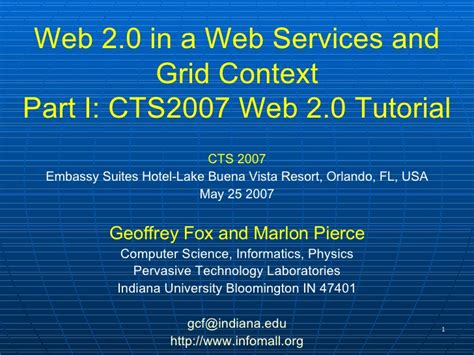 web 2 0 tutorial cts conference web 2 0 tutorial part 1