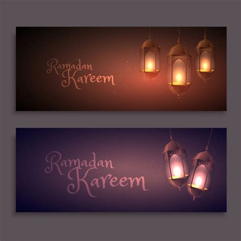 design banner ramadan ramadan banners design vector free download