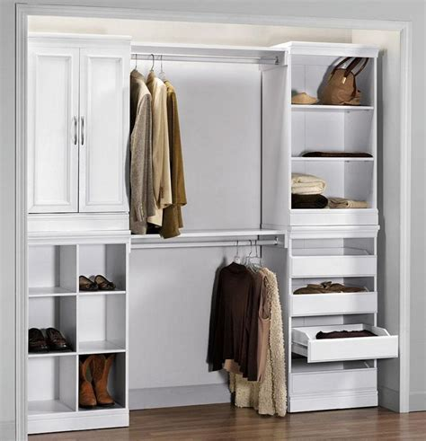 open clothes storage simple wardrobe design with white accentuate combined