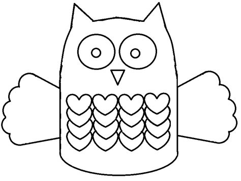 Owl Paper Craft Template - paper owl template az coloring pages