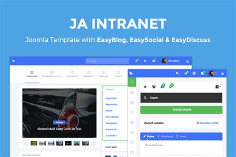 ja intranet featuring easysocial easydiscuss and easyblog