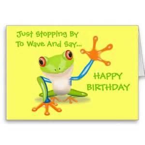 frog animal happy birthday card cards and birthdays