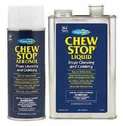 stop chewing chew stop aerosol stops chewing cribbing spray wood