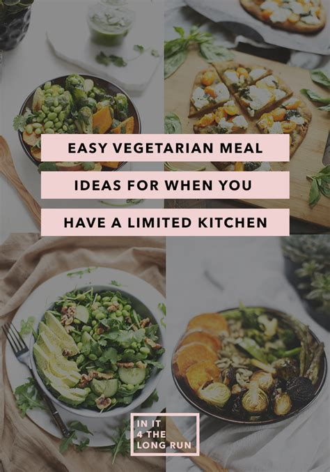 easy vegetarian meal ideas when you have a limited