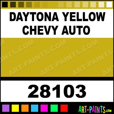 daytona yellow chevy auto model master metal paints and metallic paints 28103 daytona yellow