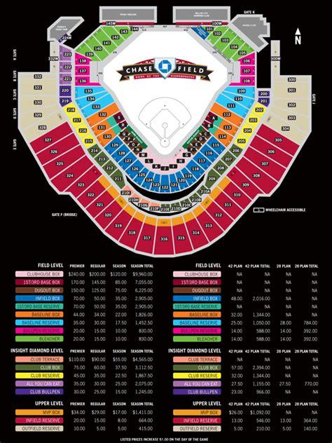 d backs stadium seating chart seating pricing arizona diamondbacks