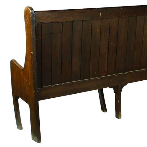 bench pew mill collection farmhouse kitchen oak church panel back