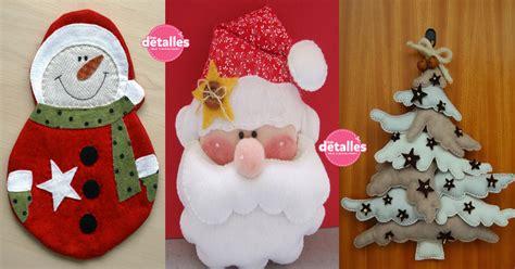 moldes de navidad en fieltro home manualidades lindos adornos de navidad con fieltro incluyen moldes