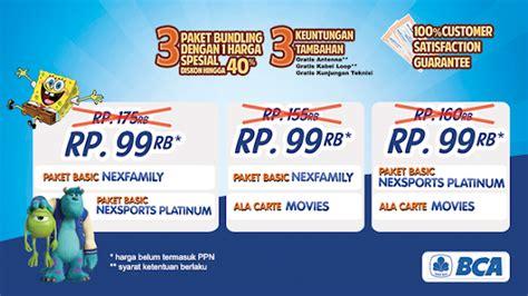 Promo Bulan Ini Robisis Paket Lengkap S M Sbn promo nexmedia terbaru bulan september 2014 info pay tv