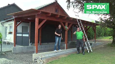 carport bauen carport bauen mit spax