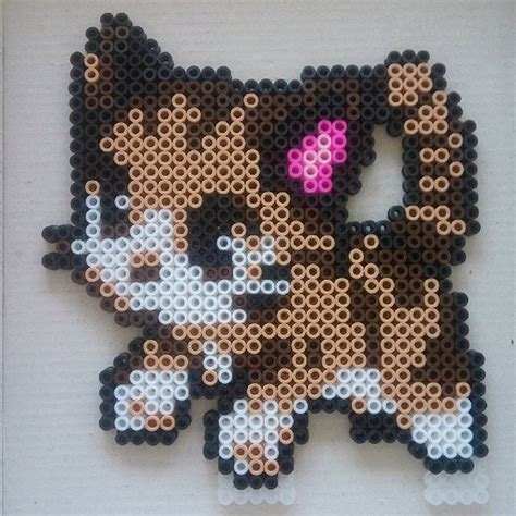 cat perler bead pattern cat hama by sandreta nez perler bead