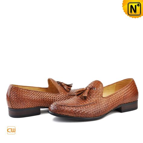 mens tassel loafers sale s woven leather loafers with tassel cw750059