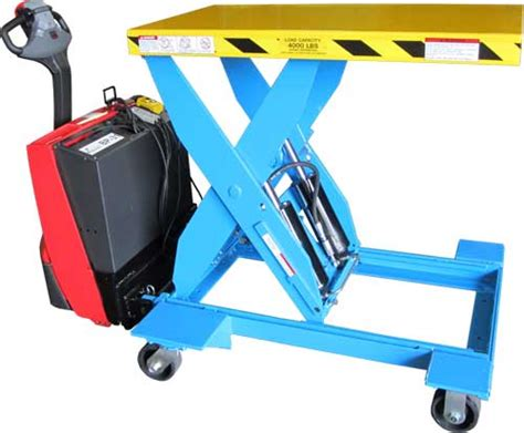 hydraulic pallet lift table mgv heavy duty self propelled electric hydraulic lift tables