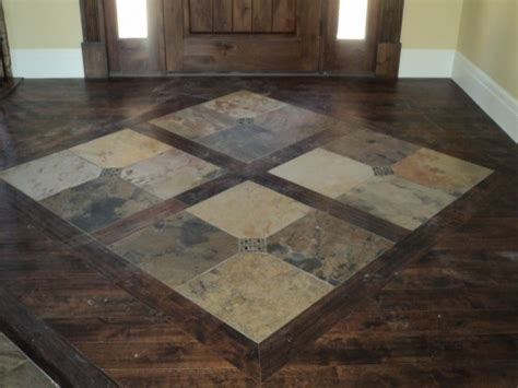 Kitchen Tile Floor Designs by Slate Inlay