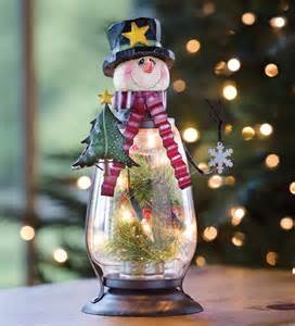 Best Solar Path Lights Snowman Glass Lantern Indoor Holiday Decorations