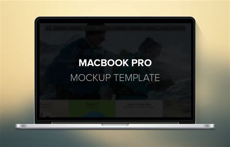 macbook pro mockup template freebies gallery
