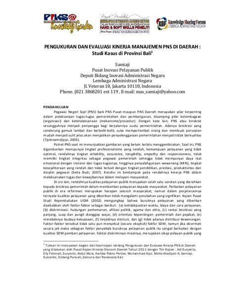 Teori Kinerja Dan Pengukurannya 1 samiaji pengukuran dan evaluasi kinerja manajemen pns di daerah stud