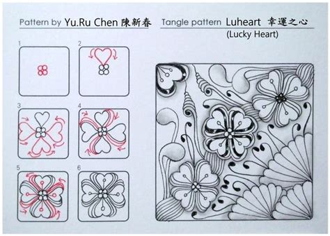heart pattern xuite 17 best images about zentangle doodles on pinterest