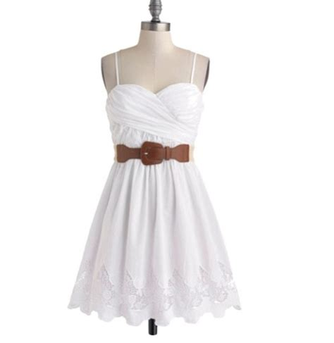 Wst 13602 White Formal Dress semi casual country style dress country wedding