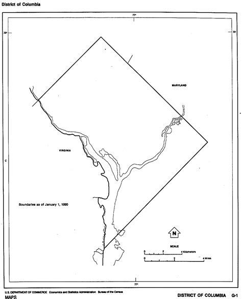 washington dc map silhouette district of columbia free map