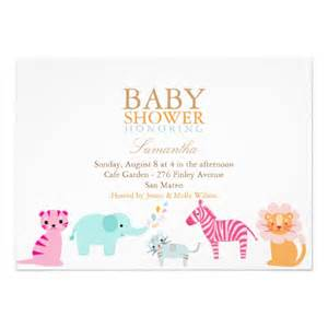 Neutral Baby Shower by Safari Gender Neutral Baby Shower Invite 5 Quot X 7
