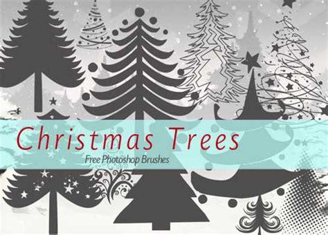 christmas tree clip art photoshop brushes