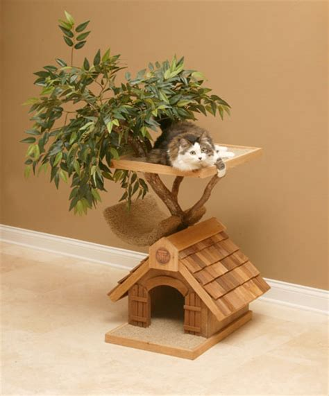 real treehouse unique cat tree houses with real trees from pet tree house