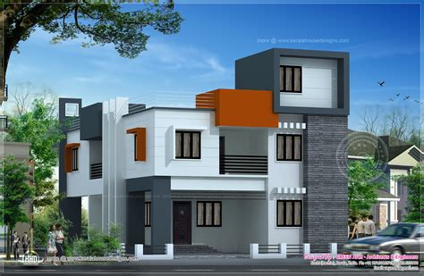 modern flat roof house plans modern flat roof house in 186 square meter home kerala plans