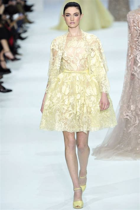 And It Was All Yellow Couture In The City Fashion Couture In The City by Elie Saab Haute Couture Summer 2012 Pale Yellow