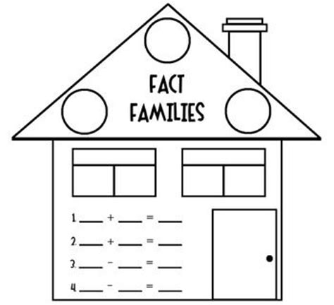 fact family house fact families house worksheet