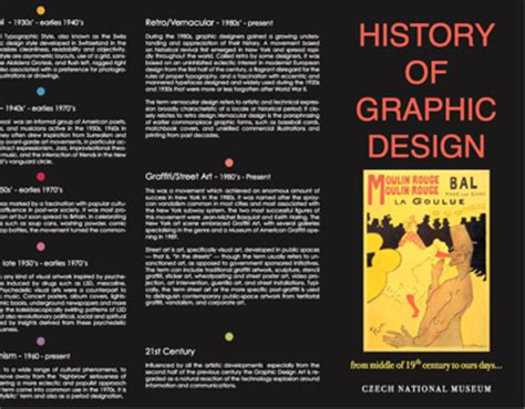 history of graphic design history of graphic design timeline brochure on behance