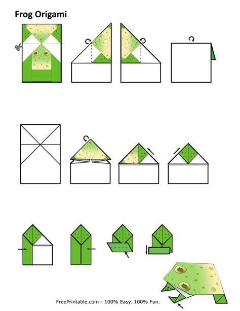 Origami Frog Printable - pin frog origami on