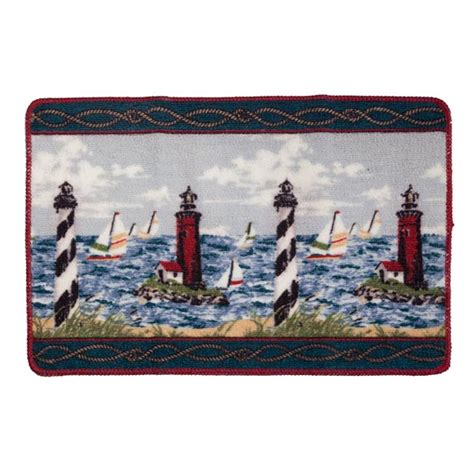 lighthouse bathroom rugs awesome lighthouse bathroom set 4 nautical bath rugs and