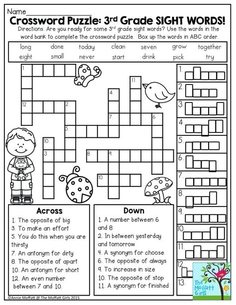 Synonyms Worksheet 2nd Grade