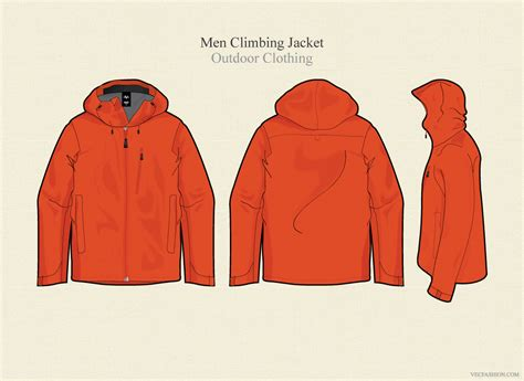 design jaket baseball hoodie men climbing jacket vector template illustrations on