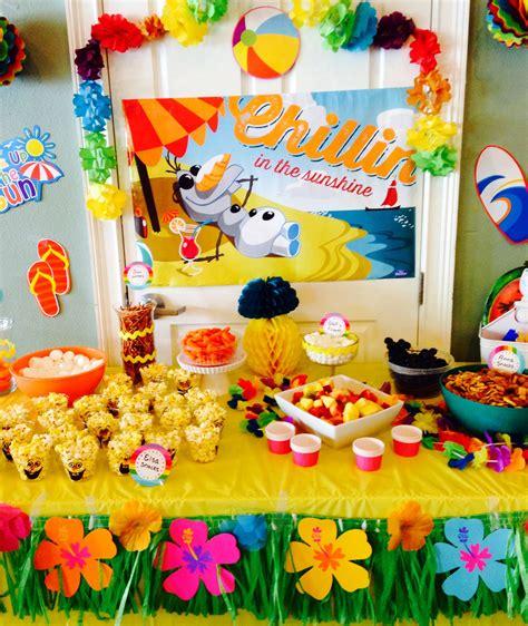 birthday themes summer olaf in summer party pinterest ideas i tried