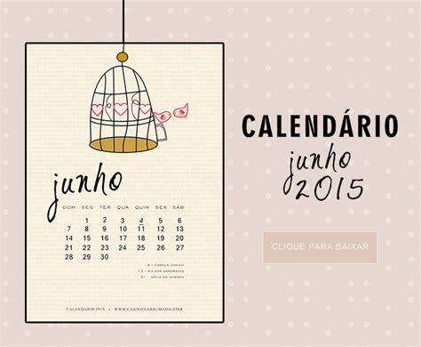 Calendario Junho 2015 Calend 225 Junho 2015 Para Casinha Arrumada