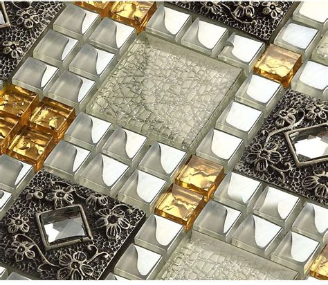Backsplash Peel And Stick Wholesale Vitreous Mosaic Tile Diamond Crystal Glass