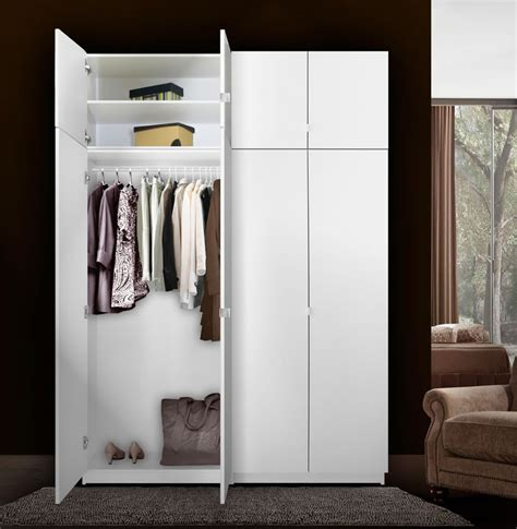 Free Standing Closet With Doors Alta Free Standing Closet 8 Door Taller Package Contempo Space