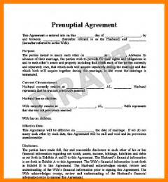 prenuptial agreement template free free printable prenuptial agreement form my