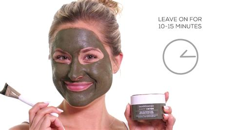 Bare Escentuals Detox Mud Mask by Bareminerals Tutorial Detox Mud Mask