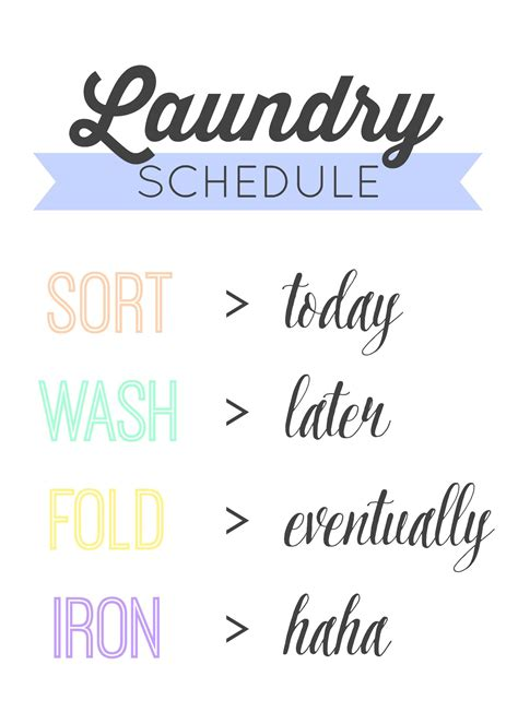 Laundry Room Hacks Printables Mommy Like Whoa Laundry Schedule Template