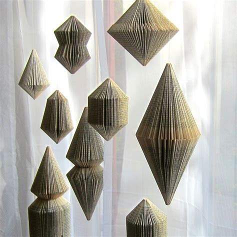 book art hanging ornament folded book