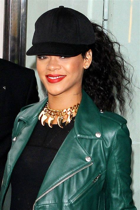 haired in a hat rihanna style baseball cap 18 the fashion tag
