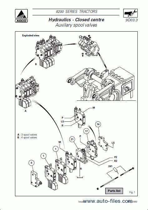 massey ferguson parts diagram massey ferguson tractors 8200 series repair manuals