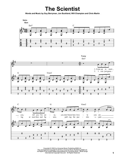 coldplay the scientist chords the scientist by coldplay solo guitar guitar instructor
